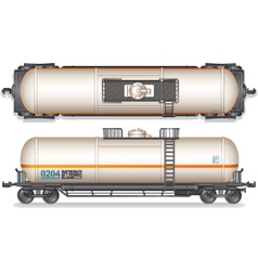 Railroad Gasoline and Oil Tank Set vector