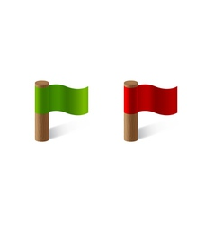 red and green flags vector image vector image