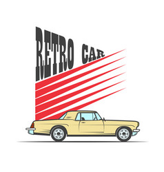 retro car in vintage style vector image