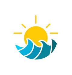 sea weather logo vector image