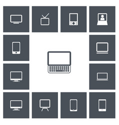 Set of 13 editable instrument icons includes vector