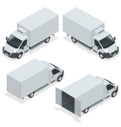Set of icons truck for transportation cargo Van vector