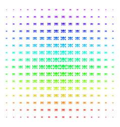 Skull crossbones shape halftone spectrum pattern vector