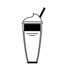 Smoothie with straw icon image vector