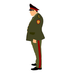 Soviet army officer in uniform russian general vector
