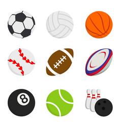 sport ball game basketball bowling football vector image