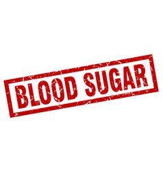 square grunge red blood sugar stamp vector image