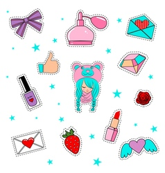 stickers vector image