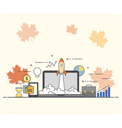 Successful startup business concept vector