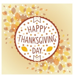 Thanksgiving day vintage label vector