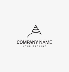 triangle line art logo vector image