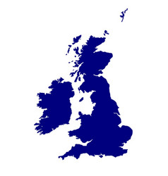 Uk and southern ireland silhouette vector