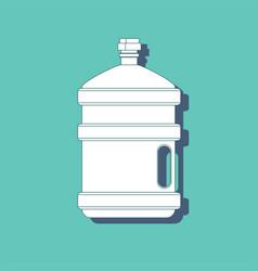 water for cooler transparent bottle for vector image