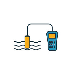 Water quality sensor icon simple element from vector