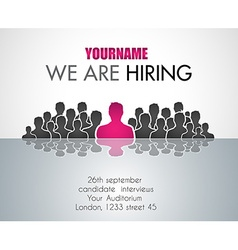 We are hiring background for your hiring posters vector