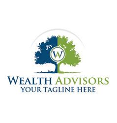 Wealth advisors vector