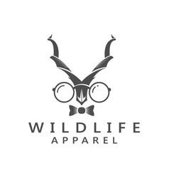 Wildlife apparel hunting deer adventure logo vector