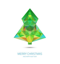 crystal chrismas tree - hipster modern triangle vector image vector image