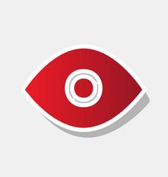 eye sign new year reddish vector image
