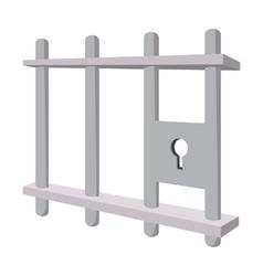 Iron bars door with a locking mechanism vector image
