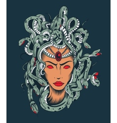 Medusa Gorgon head vector image