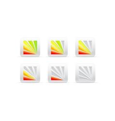 segmental color indicator vector image