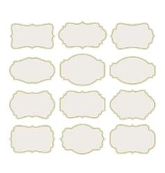 Set vintage labels frame vector image
