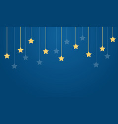 Yellow star on blue background collection vector
