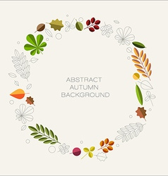 Autumn abstract floral background with place for vector image