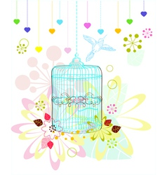 Background with blue cage vector