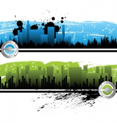 city music banners vector image vector image