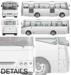 urban passenger mini-bus vector image