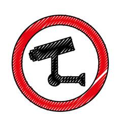 cctv security sistem icon vector image