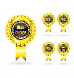 golden awards vector image