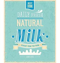 Natural milk vector