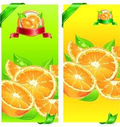 orange juice flyer design vector image vector image