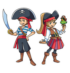 pirate kids vector image vector image