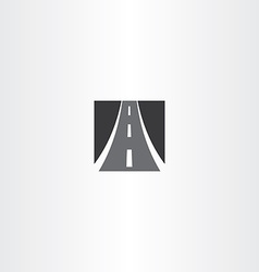 black square highway auto road icon vector image vector image