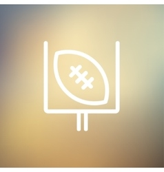 Football poster thin line icon vector image
