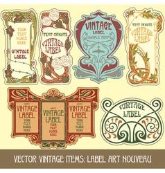 label art nouveau vector image vector image