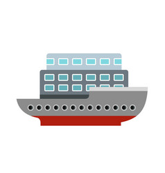 large passenger ship icon flat style vector image