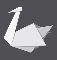 origami swan concept background realistic style vector image