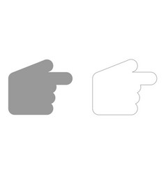 Pointer hand set icon vector