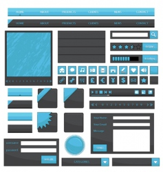 web objects vector image