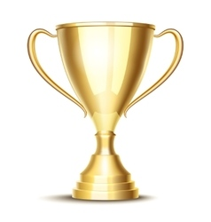 winner trophy cup vector image