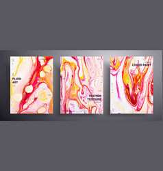 Abstract acrylic banner fluid art texture vector