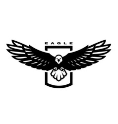 american eagle flying bird logo emblem vector image