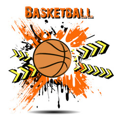 background abstract basketball ball from blots vector image