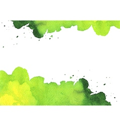 Background with green watercolor spot vector