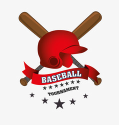 Baseball club emblem icon vector